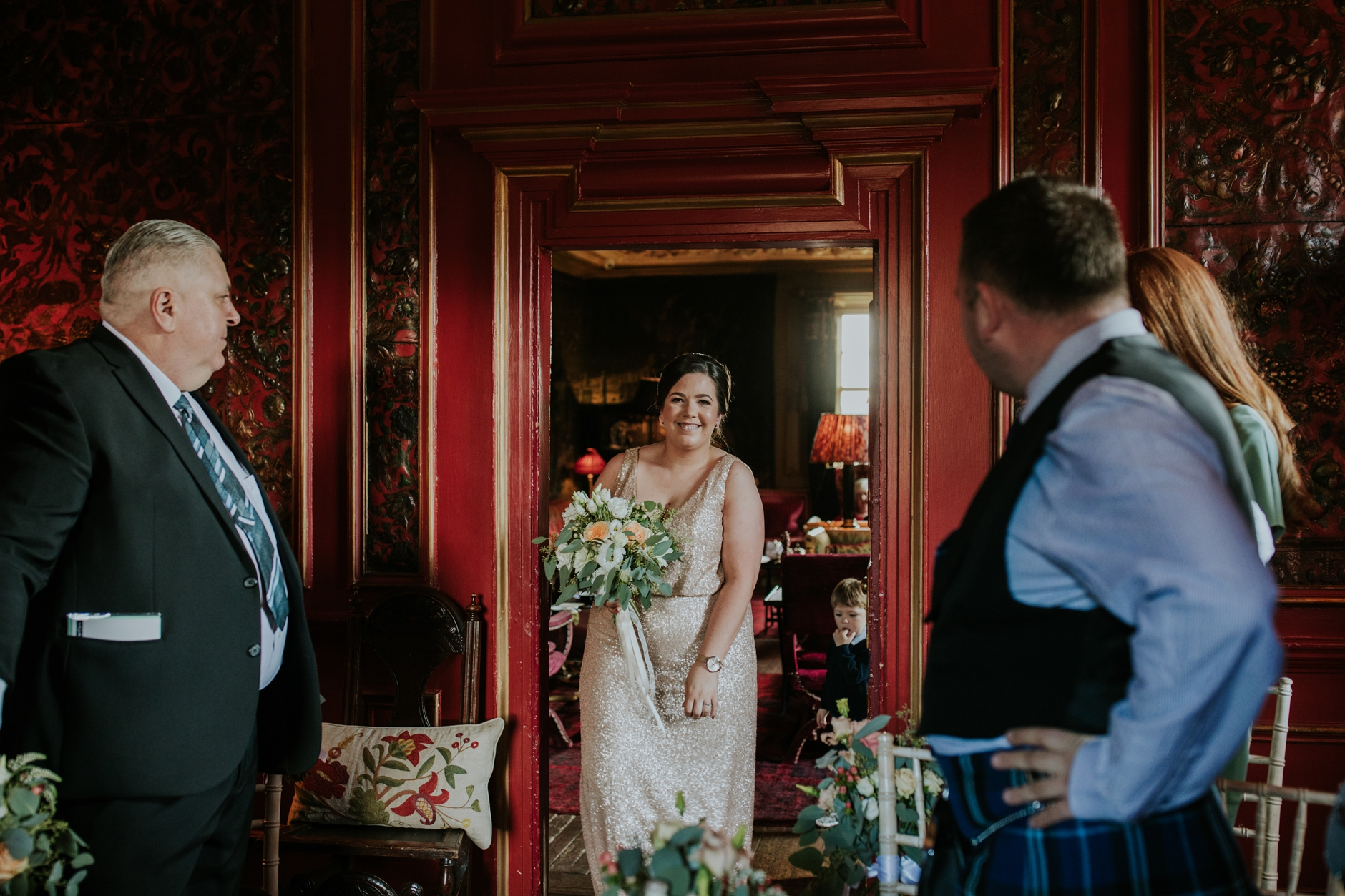 micro wedding edinburgh prestonfield house