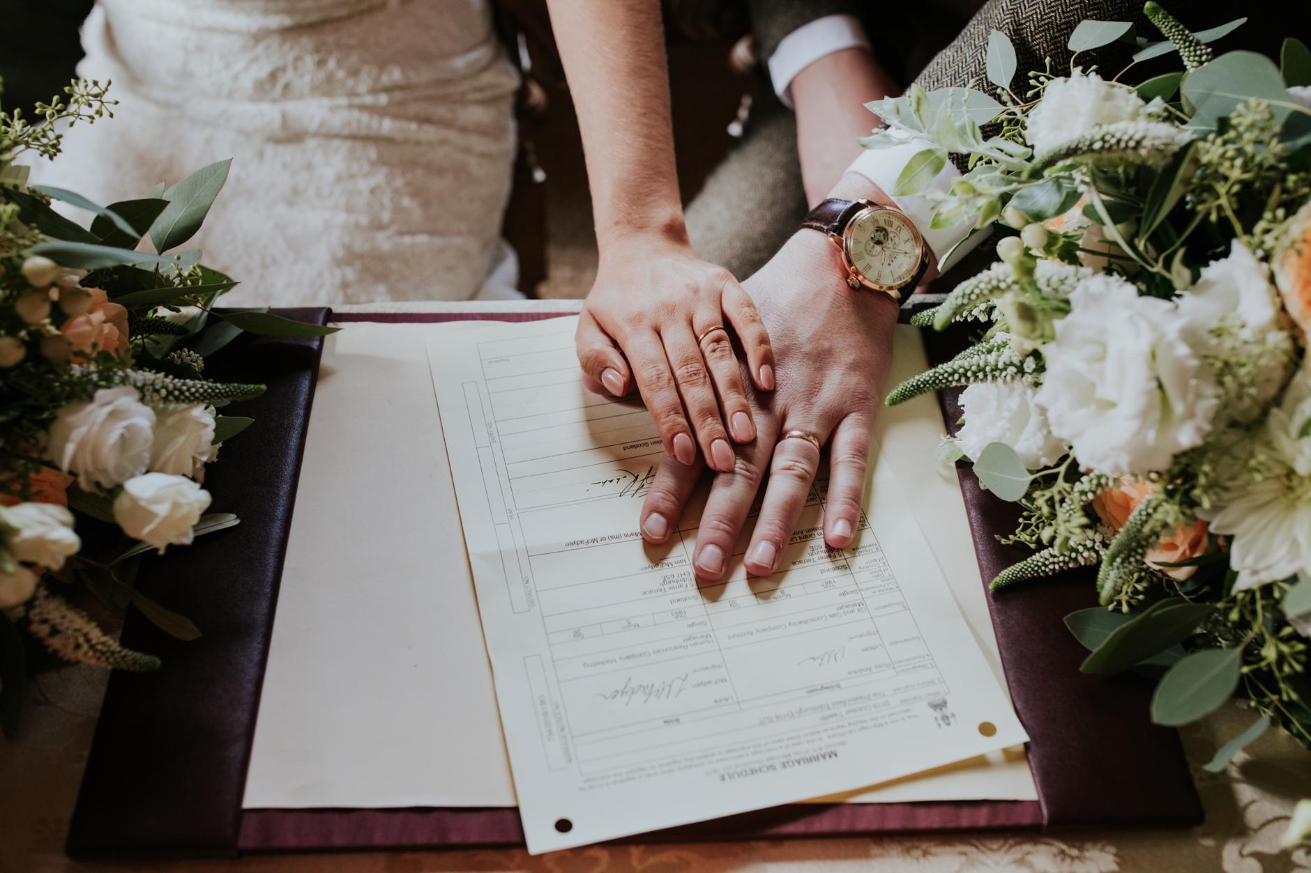 prestonfield house edinburgh intimate wedding