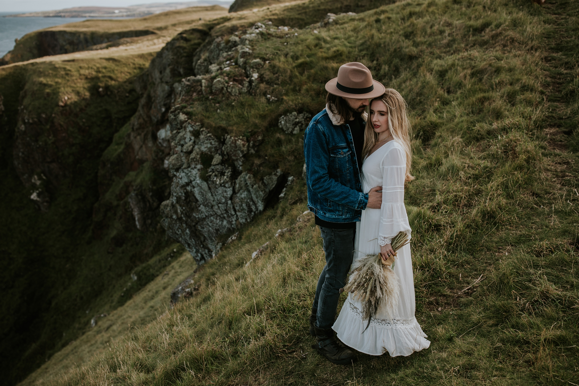 st abbs boho elopement photography